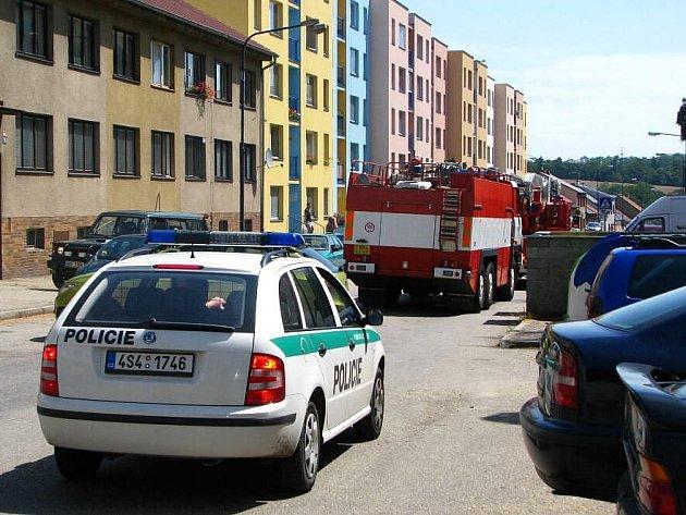 Požár bytu ve Vlašimské ulici