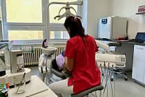 Stomatologická část zdravotního střediska v Bystřici u Benešova.