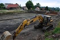 Rekonstrukce Pivovarského rybníka v Louňovicích pod Blaníkem.