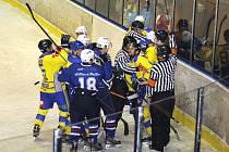 Hokejové derby Benešov - Vlašim 2:6.
