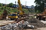 Práce na železničním koridoru - ilustrační foto