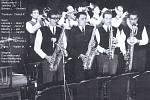 Orchestr Blaník, snímek pochází zobdobí kolem roku 1960. Hudební sestava je uvedena na snímku.