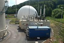 Bioplynová stanice v Přibyšicích.