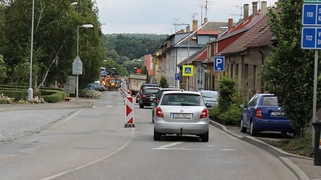 Benešov, Čechova ulice.