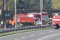 V místě dopravního omezení je dálnice D1 u exitu Mirošovice neprůjezdná