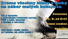 Nábor mladých hokejistů v Benešově.