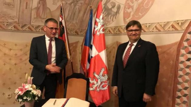 Na oficiální návštěvu Středočeského kraje přicestoval prezident Zemského sněmu Porýní -Falce Hendrik Hering.