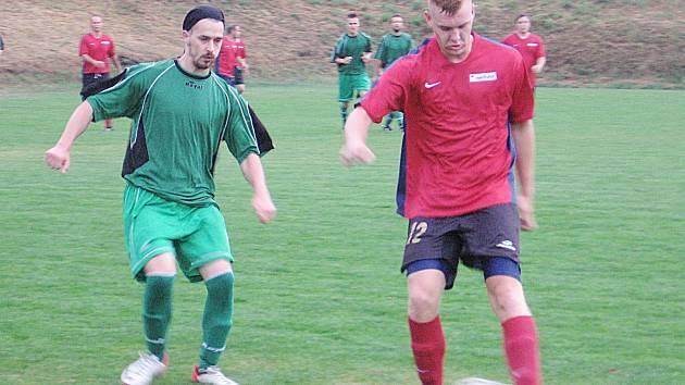 V zápase béček prohrál Struhařov s Divišovem 1:2.