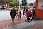 Z prvního dne školního roku 2020 až 2021 ve vlašimské Základní škole Vorlina.