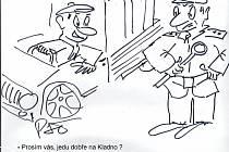 Nové kreslené vtipy Jiřího Cinkeise a Josefa Pšeničky.