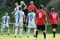 Tentokrát byl votický brankář Michal Soukup jistý, ale během zápasu čtyřikrát lovil míč ze své sítě.