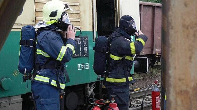 Požár lokomotivy. Ilustrační foto.