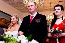 Svatba Hany Bulanové z Čerčan a Tomáše Mikulandy z Přestavlk u Čerčan.