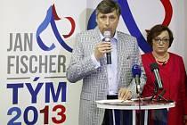 Jan Fischer a jeho manželka Dana.
