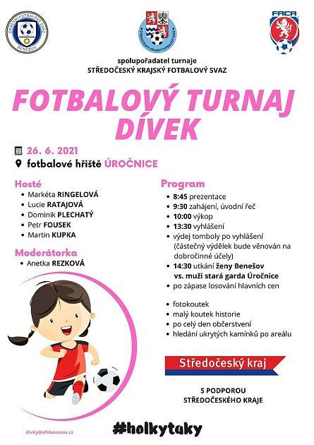 Fotbalový turnaj dívek vÚročnici.