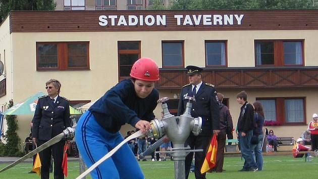Krajská soutěž Mladých hasičů v Sedlčanech.