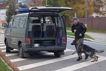 V obci se pohybuje velké množství policistů včetně techniky.