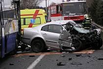 Křižovatka u Pyšelky je jedna z nejnebezpečnějších na celé trase silnice E55.