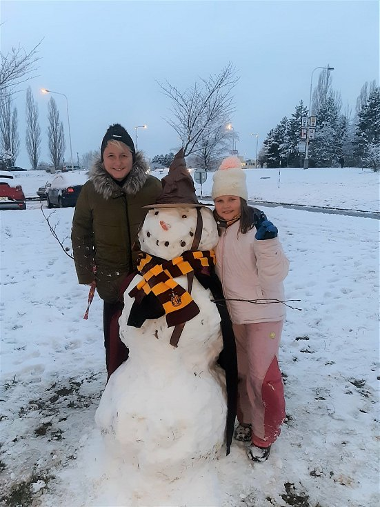 Sněhulák u Dády Turkové.