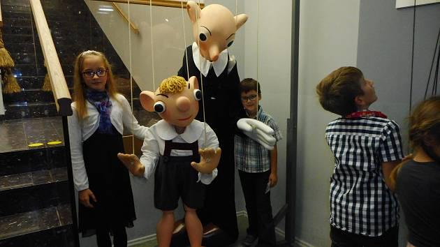 Představení Past na Hurvínka i muzeum loutek se dětem moc líbilo.