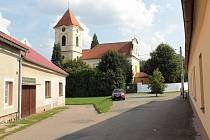 Stará část města Bystřice u Benešova.