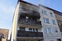 Požár bytu v Družstevní ulici v Bystřici.