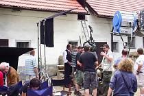Momentka z natáčení Habermannova mlýna.