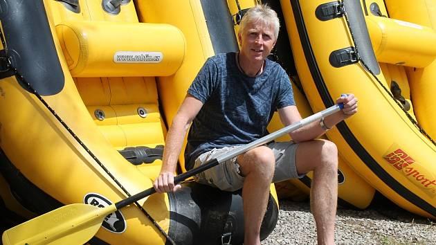Jaromír Biolek, majitel outdoorového centra v Týnci nad Sázavou.