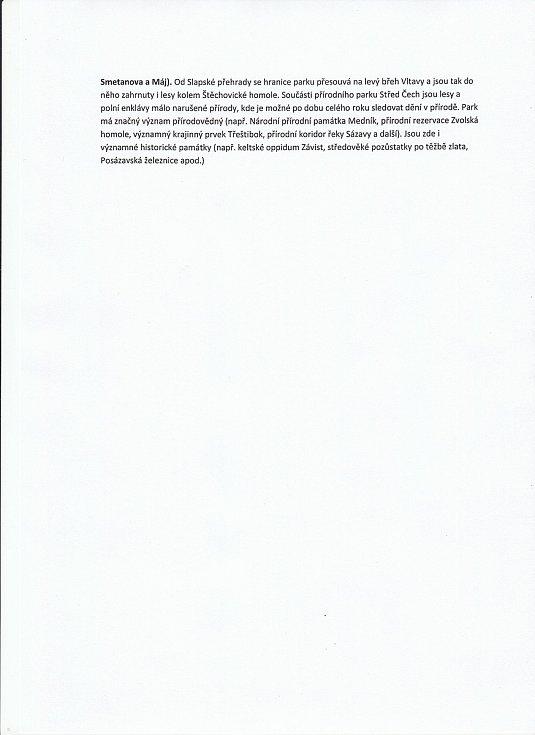 Žádost o řešení dopravní situace a hlučnosti v Krňanech a Třebsíně, Závisti, teletinu a přilehlých osadách - strana 4.