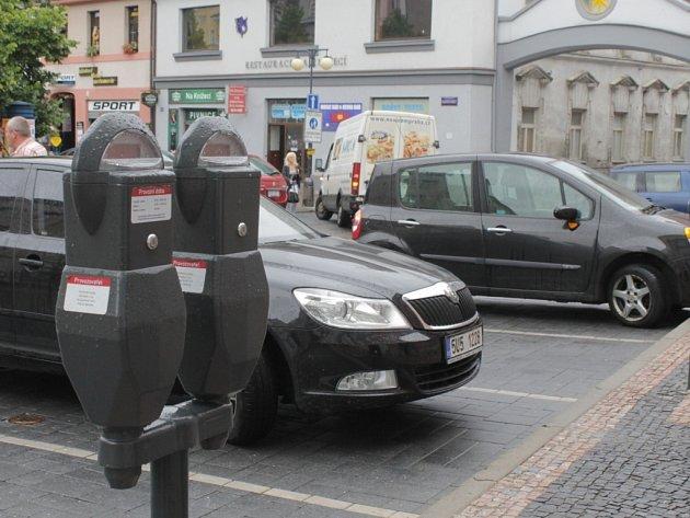 Parkovací automaty v Benešově.