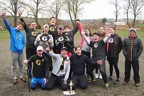 Vítězný tým, vlašimské gymnázium, z 12. ročníku podblanického turnaje SŠ (baseball-softbal)