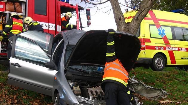 Na místo nehody dorazili benešovští profesionální hasiči