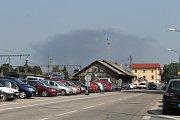 Požár haly v brodecké Jawě. Kouř bylo vidět i z Benešova.