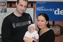 Viktorie Vokounová je vítězkou říjnového kola hlasování o Nejsympatičtější miminko měsíce.