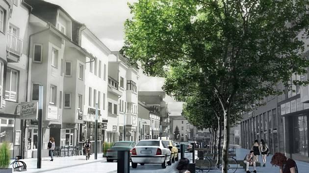 Budoucnost  - vizualizace podoby benešovské Tyršovy ulice.