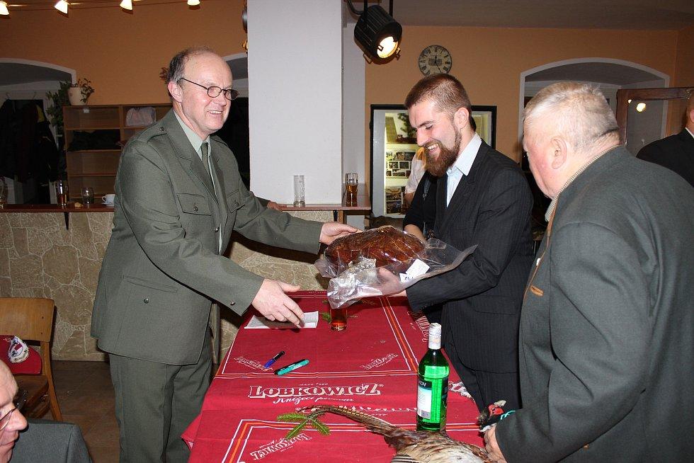 Myslivecký ples v Týnci nad Sázavou.
