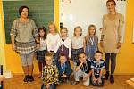 Základní škola a Mateřská škola Teplýšovice, první třída, učitelky Klára Bulová a Hana Machalová.