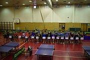 Středoškolské republikové finále ve stolním tenisu ve Vlašimi.