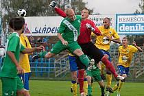 Brankář Benešova Pavel Capouch byl v zápase s Loko Vltavín bezchybný a pomohl týmu k výhře 2:0.