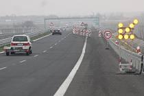 Dopravní omezení na dálnici. Ilustrační foto.