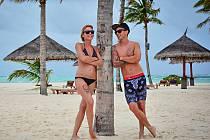 Libor Podmol užívající dovolenou s manželkou.