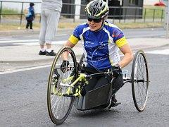 Handbike, je jízdní kolo na ruční pohon. Díky němu se budou moct vozíčkáři pohybovat po cyklostezce v okolí RÚ Kladruby.