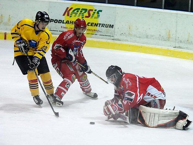 Zápas II. hokejové ligy Benešov - Pelhřimov 4:5