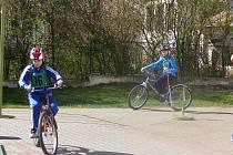Dopravní soutěž mladých cyklistů v Bystřici.