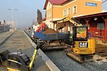 Rekonstrukce nádraží v Týnci nad Sázavou.