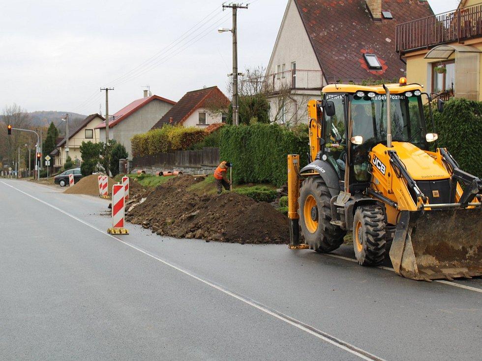 Rekonstrukce dešťové kanalizace v Jarkovicích.