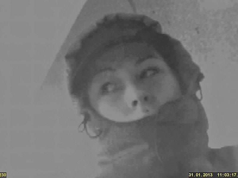 Záznam kamery z bankomatu v Lidické ulici.