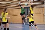 Ze třetího kola okresního poháru žen ve volejbale v Týnci nad Sázavou.