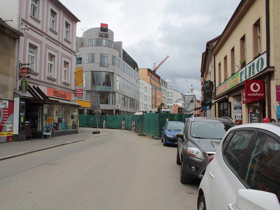 Tyršova ulice v Benešově.