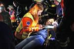 Přestavlcké cvičení složek IZS, zákrok nanečisto, učí nejen záchranáře, ale svým způsobem figuranty.